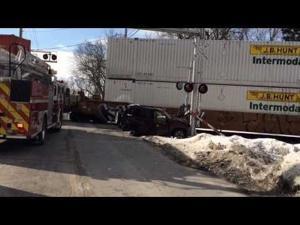 Valpo train crash video