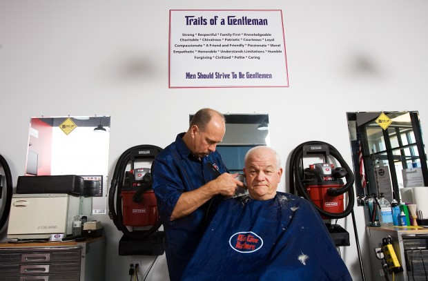 Man Cave Barber Crown Point : C p barbershop caters to men