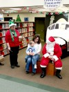Santa visits Crown Point Library