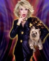 Frank Marino Wearing Versace as Comedinne Joan Rivers with her Prized Pet Tribute to Spike