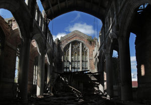 Portion of roof collapses in Old City Methodist Church