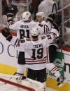 Brent Seabrook, Jonathan Toews, Marian Hossa