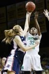 WOMEN'S BASKETBALL ROUNDUP: Top-seeded Notre Dame routs Robert Morris, stays unbeaten