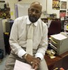 Earl Smith at his desk
