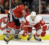 Red Wings dominate Hawks in Game 2