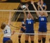 Lake Central's Julianne Epperson and Anna Weber