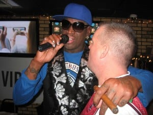 Rodman shows he's still the life of the party at local appearance