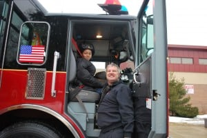 Firefighters help grant child's wish