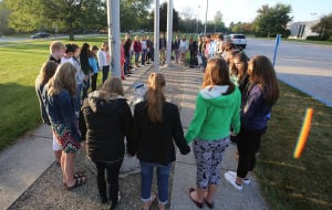 Students gather at annual See You at the Pole event