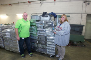 Partnering in electronic recycling to create employment for workers with special needs