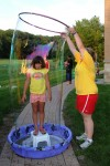 Bubbles galore at Crete library program