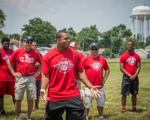 Thomas gets kids moving at T.F. South camp