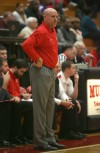 Munster coach Mike Hackett reacts during Friday night's game.