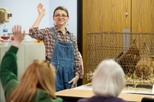 Thomas library staff present program on raising fowl at home