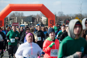 Valpo firemen reach the finish line