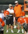 Tressel visits Browns camp