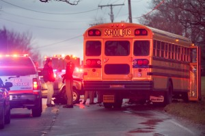 Students, 2 drivers injured in Union Township bus crash