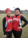 Kankakee Valley's Alyssa Matson and Taurie Piatt