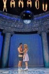 "Chris Critelli and Gina Milo in ""Xanadu"" at Drury Lane Theatre Oakbrook"