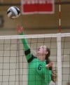 Valparaiso's Noelle Eveland tips the ball against Munster on Thursday.