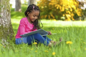It doesn't matter what, but children should read during the summer