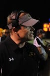 Crete-Monee head football coach Jerry Verde