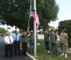 Old Glory flies at American School