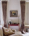 Drapes with Contrasting Wallpaper