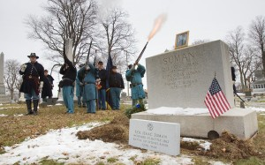 New Civil War grave marker honors storied stand of Valparaiso colonel