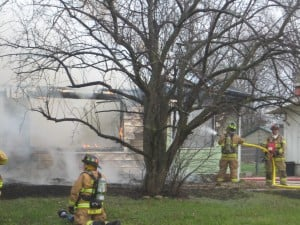 South Haven man rescued from burning home