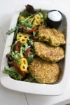 A fry-free take on fava bean falafel burgers