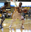 Valparaiso's Lavonte Dority looks to pass the ball against the defense of Murray State during Friday's home opener.
