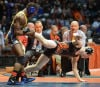 Thornwood's Kris Williams brings down Libertyville's Steve Polakowski in the Individual State Tournament Finals.