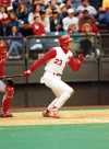 Hal Morris played 10 seasons with the Cincinnati Reds. 