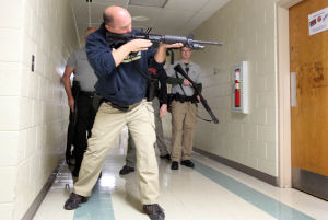 Police train for active shooter scenario at Wheeler High School