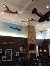 Model Planes Floating Over Lobby of Hampton Inn Midway Hotel in Chicago