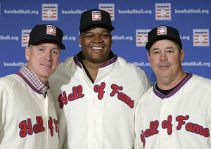 Hall call: Thomas, Glavine and Maddux to enter shrine