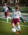 TF United's Ray Kobus clears the ball from the defensive end Saturday.