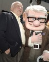 "Actor Ed Asner with this Disney Pixar Character Alter Ego Carl at the October 2009 Movie Premier of ""Up"""