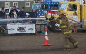 Firefighter companies battle in Porter County Fair competition