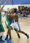 Lake Central's Rolanda Curington drives against Valparaiso's Kristina Veljovic on Friday.