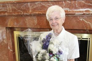 Woman honored for 50 years of continuous volunteer service