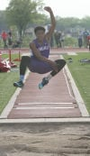 Merrillville's Desmond Thomas jumped 18 feet, 6 inches