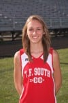 T.F. South girls cross country runner Patty Stellfox