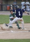 Whiting catcher Joseph Bondi, Bishop Noll's Danny Oseguera