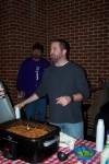 Greg Geimer and his Buffalo Chicken Chili at the 2013 Lupus Foundation of Indiana 11th Annual Chili Cook-Off