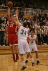 Crown Point's Nick Jeffirs shoots over Valparaiso's Quentin Palmer