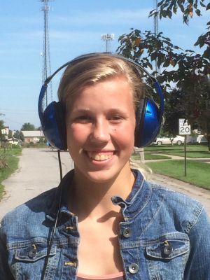 In the headphones