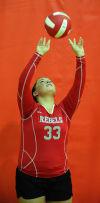 TF South girls volleyball player Gabbe Mullen