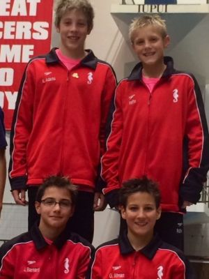 Munster Swim Club wins age-group relay; Kyle Adams pans four golds